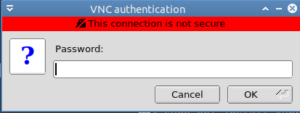 popup authentication vnc