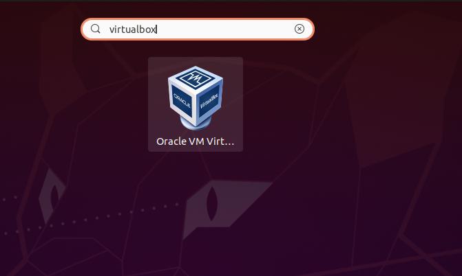 start virtualbox application