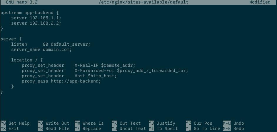 nginx load balancing configuration