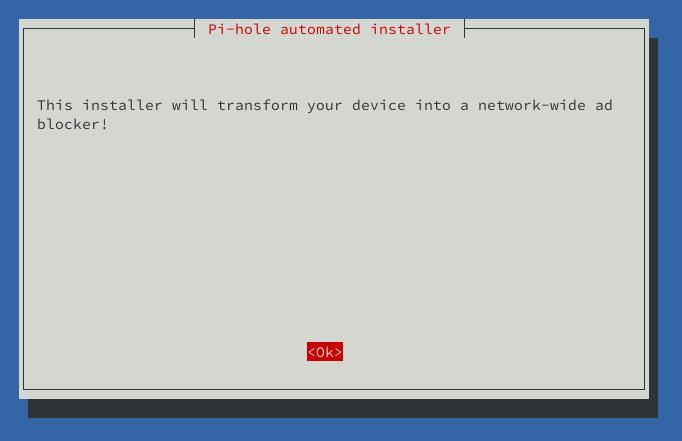 pi-hole autotamed instalation notification