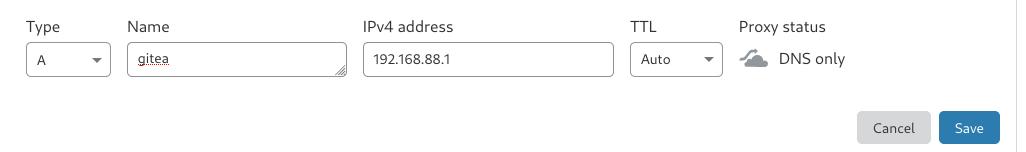 setup sub domain record