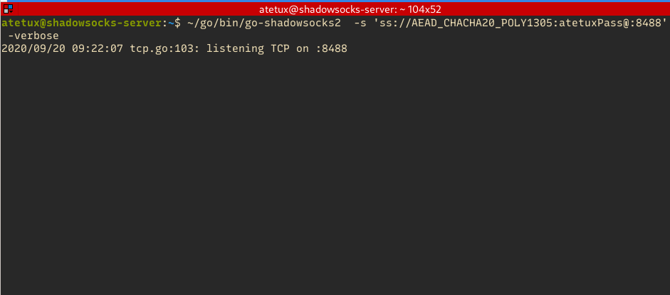 shadowsock server connected