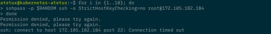 ssh connection timed out