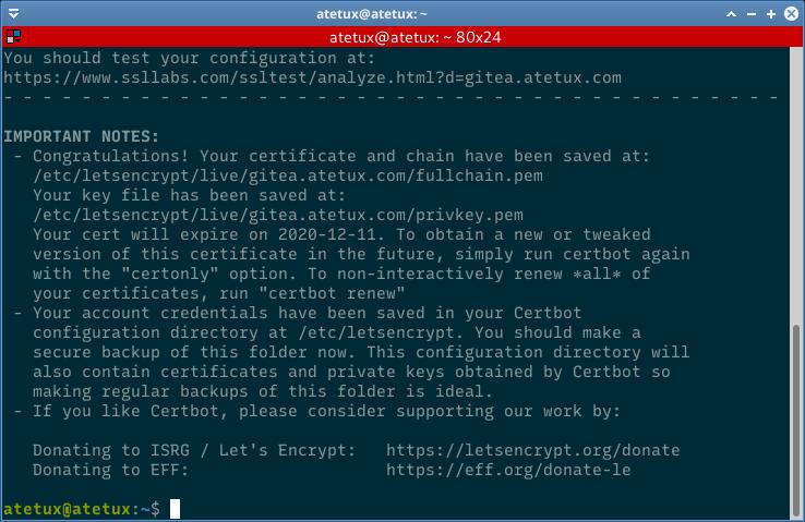 ssl letsencrypt installed