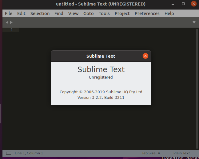 sublime text 3 running