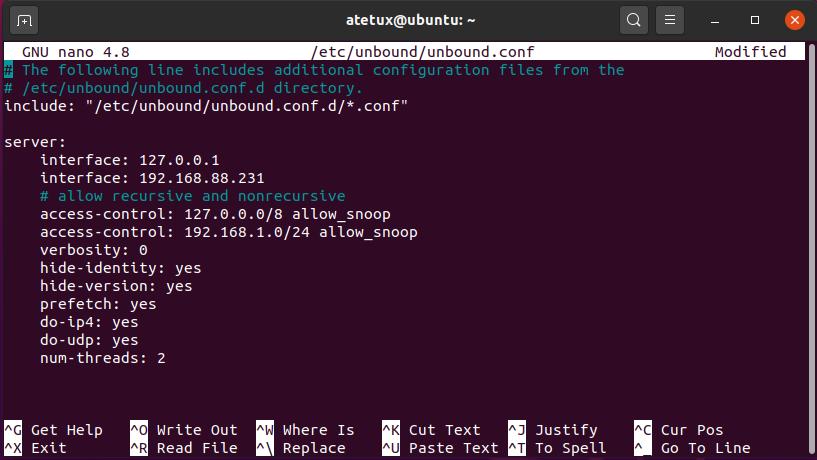 unbound configuration file