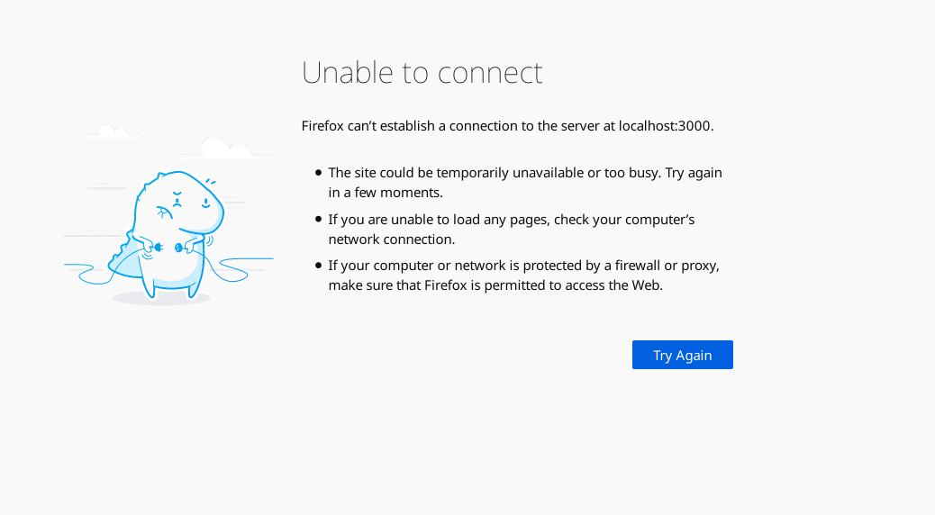 cant access localhost 3000