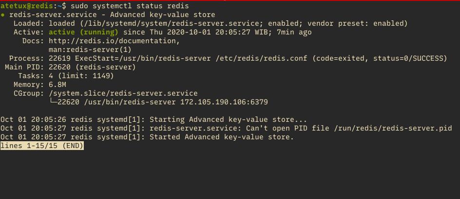 check redis status linux