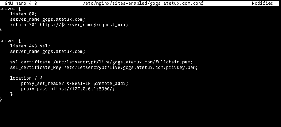gogs nginx reverse proxy