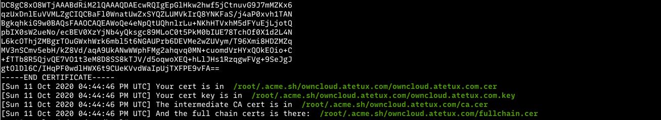 lets encrypt ssl done