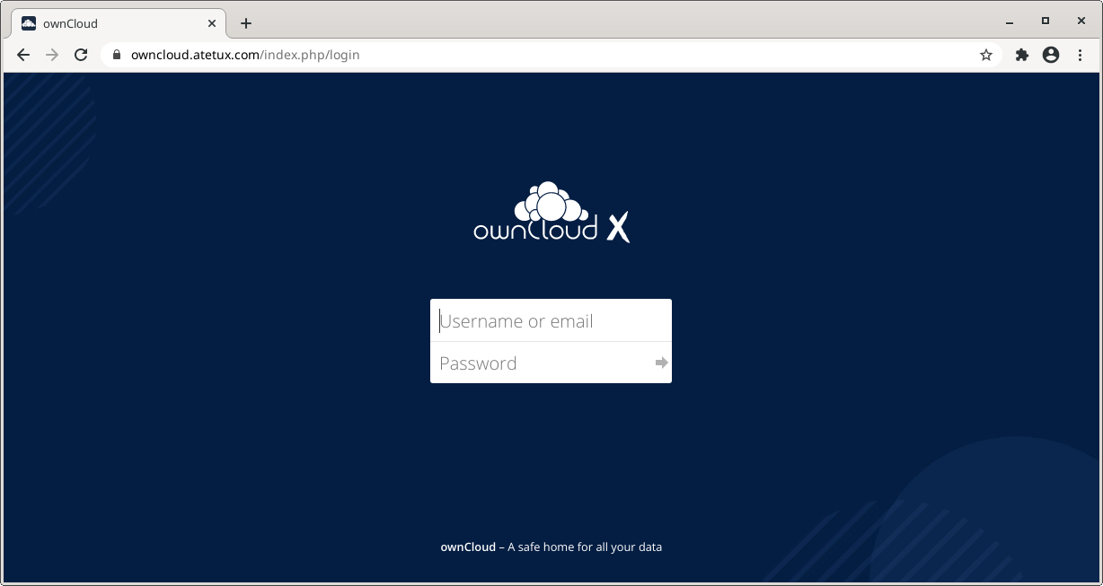 owncloud login page