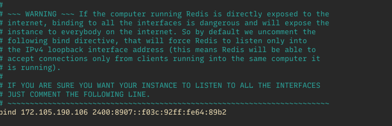 redis change ip bind